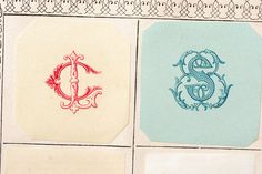 Monograms 2-up by Letterologist, via Flickr