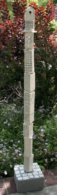 Working on my own totem pole. This one is by Cheryl Wolff - Bird House Totems