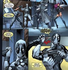 Deadpool, you should know by now that grabbing Wolverine's fist is not a good idea..