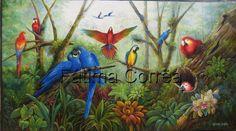 Pintura óleo sobre tela de Fátima Corrêa - Brasil