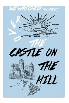 Ed Sheeran Castle On The Hill poster