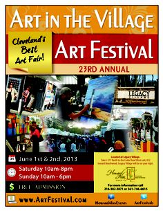 Don't miss Art in the Village on Saturday, June 1 & Sunday, June 2!!