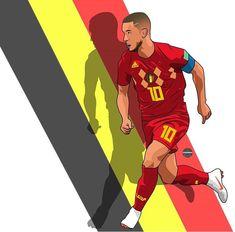 Belgium National Football Team, National Football Teams, Football Art, Eden Hazard, Hazard Real Madrid, Cristiano Ronaldo Wallpapers, Cr7 Ronaldo, Fifa 20, Caricatures