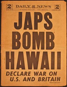 vintage everyday: 28 Newspaper Headlines From the Past That Document History's Most Important Moments World History, World War Ii, History Class, Hiroshima, Nagasaki, Pearl Harbor Attack, Pearl Harbor Hawaii, Newspaper Headlines, New York Daily News