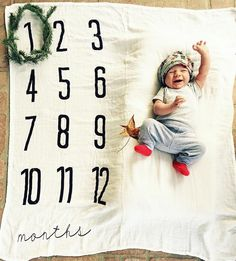 Monthly Milestone blankets are the perfect way to track the growth of your baby through the first year of their life!