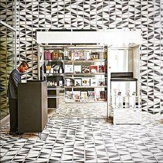 Native Tile Collection, Stockholm Zebra tiles in the Durham Hotel designed by Commune.