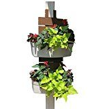 Easily turn a gutter downspout pergola post front porch or other type of post into a vertical garden. The Downsprout Vertical garden makes planting and installing a fast and easy process. Hanging Wall Planters Indoor, Deck Planters, Vertical Wall Planters, Planter Pots, Vertical Gardens, Pergola, Gutter Garden, Strawberry Planters, Garden Posts