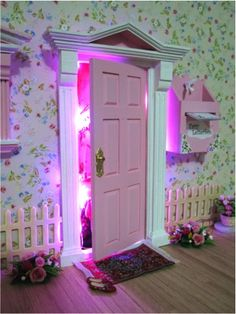 Details about pink flower fairy door easter gifts gift for her we hand craft beautiful fairy doors that open right here in melbourne australia and negle Gallery