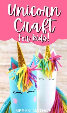 Get crafting with this brilliant (and super easy) unicorn toilet paper tube craft activity for kids! #activitiesforkids #funforkids #artsandcrafts #unicorn #craftsforkids Baby Sensory Board, Baby Sensory Play, Sensory Activities Toddlers, Easy Crafts For Kids, Craft Activities For Kids, Diy For Kids, Fun Crafts, Arts And Crafts, 3 Kids