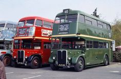 #Red and Green RT buses which ran for London Transport's Central and Country Bus departments respectively.