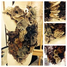 woodland fungi inspired corset Natural Structures, Natural Forms, Textiles Sketchbook, A Level Textiles, Growth And Decay, Textile Sculpture, Fabric Structure, Mushroom Art, Textiles Techniques