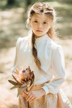 Prairie girl`s blouse with sunset skirt. Kids Wear, Summer Collection, Fashion Brand, Fall Winter, Flower Girl Dresses, Spring Summer, Wedding Dresses, How To Wear, Dreams