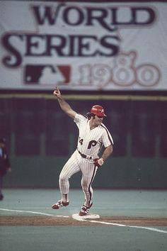 Pete Rose Philadelphia Phillies 1980 World Series Game One
