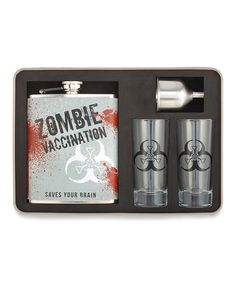 Take a look at this Zombie Survival Cocktail Bar Set on zulily today!