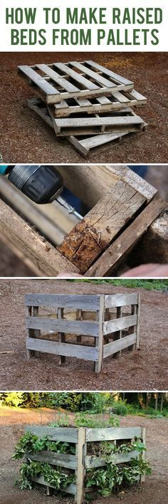 Upcycle old wood pallets into awesome raised gardens. Wood pallets are so cheap and make building a raised garden bed super easy. It only takes 9 steps!