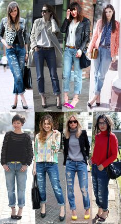 Blue is in Fashion this Year: How To Wear: Boyfriend Jeans