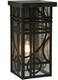 Meyda Lighting 115906 Deco Outdoor Wall Light in Craftsman Brown