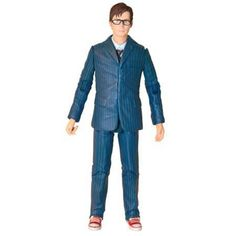 Doctor Who Tenth Doctor In Blue Suit With Glasses Action Figure