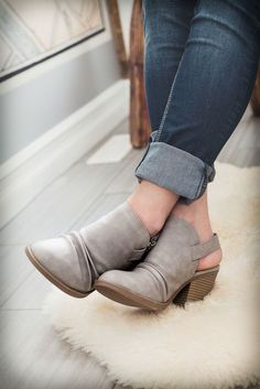 Image of Vegan Leather Ankle Strap Booties