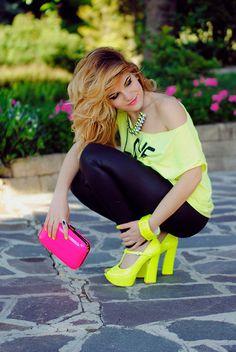 Fluo Addiction! (by Letizia Giansanti) http://lookbook.nu/look/3585981-Fluo-Addiction