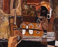 African composition - Wim Bosma (Dutch painter Amsterdam 1902-1985)
