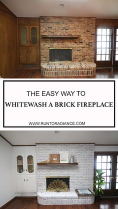 Wonderful Pic white Fireplace Shelves Ideas Today is a little reunion of sorts b… – Modern brick fireplace White Wash Brick Fireplace, Paint Fireplace, Fireplace Shelves, Fireplace Update, Brick Fireplace Makeover, Fireplace Ideas, Brick Fireplaces, Living Room Decor On A Budget, Paint Colors For Living Room