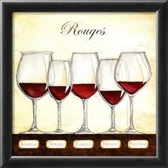 Les Vins Rouges Lámina por Andrea Laliberte en AllPosters.com.ar.