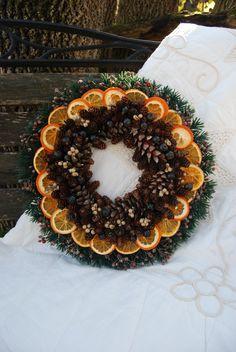 Handmade Dried Christmas Wreath.