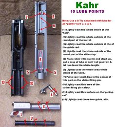 How to Properly Lube a Kahr Pistol - Diagram Weapons Guns, Guns And Ammo, Springfield Pistols, Kahr Arms, Pocket Pistol, Ar Build, Concealed Carry Holsters, Military Quotes, Gun Storage