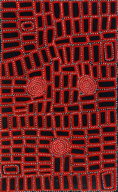 Walala Tjapaltjarri c. 1960  Walala Tjapaltjarri, brother of well-known painters Warlimpirrnga Tjapaltjarri and Thomas Tjapaltjarri, was born in the Gibson Desert east of Kiwirrkura in the early 1960's. He was one of a small party, that included his brothers, several sisters, and two old aunts whose arrival in Kiwirrkura in 1984 made international headlines that proclaimed the discovery of a 'Lost Tribe'. Until this time, at age 21, Walala had never encountered Europeans and their ways. The…