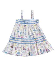 Look what I found on #zulily! White & Blue Heirloom Sundress - Infant & Toddler by Angel Dear #zulilyfinds