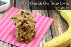 chocolate chip protein cookies vegan and gluten free