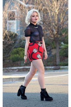 Lazy Oaf skirt - American Apparel top