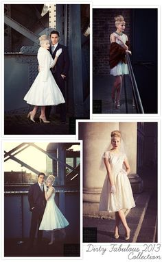 Vintage #Wedding Dresses from Dirty Fabulous | onefabday.com