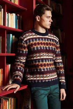 More xmas sweater ideas - this one worn by George Elliott by Pani Pani.