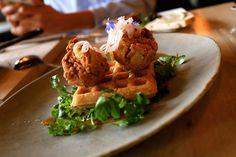 Southern fried artichokes + Waffles