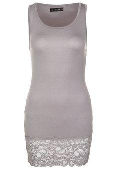 FRESH MADE  Asphalt Grey Lace Longtop