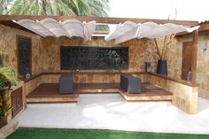 Chill out lounge in garden villa Maspalomas.