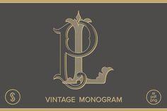 LP Monogram PL Monogram by Shuler Studio on @creativemarket
