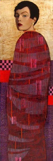 (France) Boyish by Richard Burlet ). Oils and collages. Abstract Portrait, Portrait Art, Woman Painting, Figure Painting, Richard Burlet, World Famous Artists, Gold Art, Art For Art Sake, Art Model