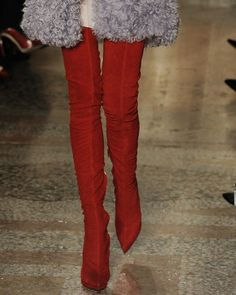 Emilio Pucci Red Thigh High Boots F/W 2013