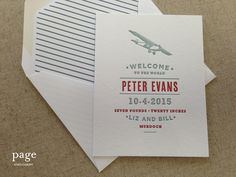Baby Announcement/Shower Invitation| Page Stationery| Find in Tecumseh & Ann Arbor, Michigan Rock Paper Scissors!