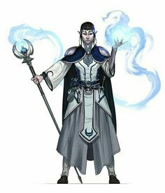 Elf Wizard - Pathfinder PFRPG DND D&D d20 fantasy