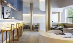 Iluminación restaurante. Hotel Medium Park Sitges, Barcelona.