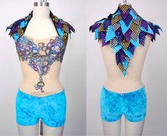 Aerial silks costume / custom dance costume / dragon reptile cirque du soleil / nude leotard made to order