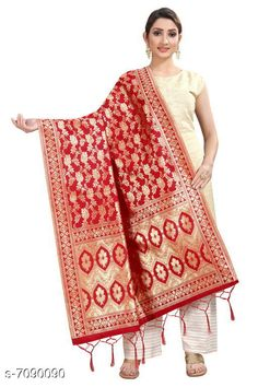 Checkout this latest Dupattas Product Name: *Stylish Women's Dupatta* Fabric: Banarasi Silk Pattern: Zari Work Multipack: 1 Sizes:Free Size (Length Size: 2.2 m)  Country of Origin: India Easy Returns Available In Case Of Any Issue   Catalog Rating: ★3.9 (294)  Catalog Name: Stylish Women's Dupattas CatalogID_1131550 C74-SC1006 Code: 172-7090090-606