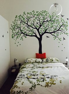Perfect koleksi ruang tamu rumah liar Images, awesome mural for 61 home improvement Tree Decal Nursery, Tree Decals, Vinyl Wall Decals, Wall Stickers, Bedroom Murals, Wall Murals, Bedroom Decor, Wall Decor, Wall Art
