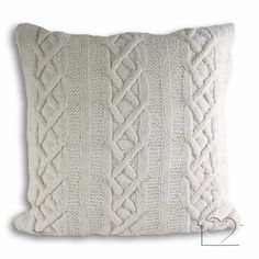 Aran Knitted Cushion Cover Listers £10