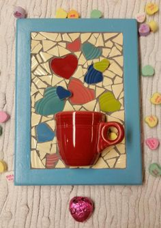 """Have a Heart"" Mosaic by ColorMeMosaic ~ created from Fiesta® Dinnerware ~    Hey, I found this really awesome Etsy listing at https://www.etsy.com/listing/264312723/68-mosaic-have-a-heart 