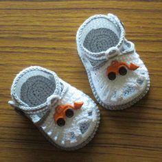 Crochet baby sandals,Crochet boys sandals,Crochet grey and white sandals,Crochet boys shoes,Crochet booties,Cotton sandals